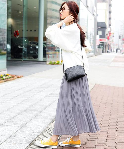 [Fashion Letter] シフォンプリーツスカート