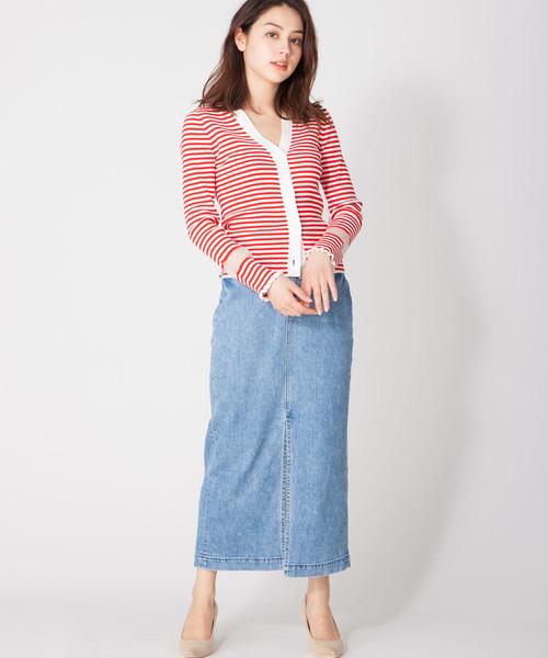 [en recre] 【YANUK/Slit Long Skirt】スリットロングタイトスカート