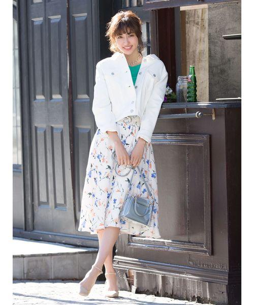 [Ailand] オリジナルボタニカル柄スカート