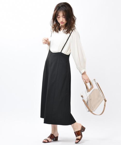[Discoat] 肩ヒモ付ロングスカート
