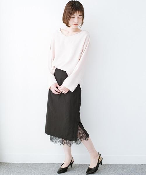 [haco!] はくだけで華やかなきれいシルエットの重ねタイトスカート by MAKORI