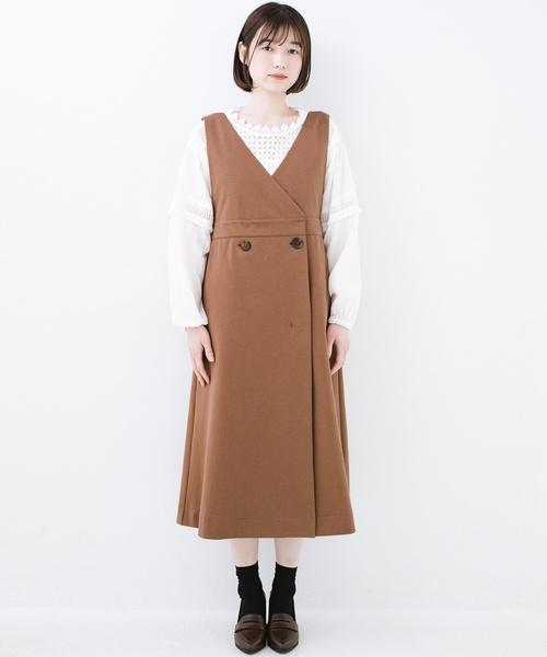 [haco!] 頑張りすぎずにちゃんとかわいいカットソージャンパースカート