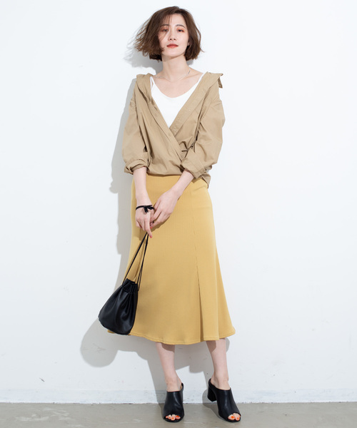 [YARD PLUS] AUNT MARIE'S リブカットマーメイドスカート