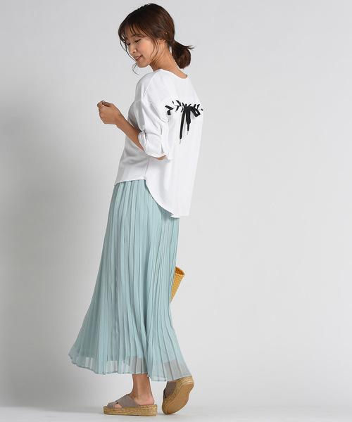 [MAYSON GREY] 【socolla】シフォンプリーツスカート