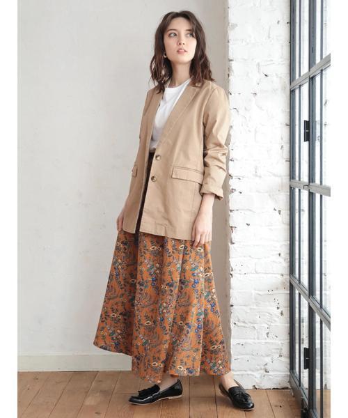 綿テーラードジャケット