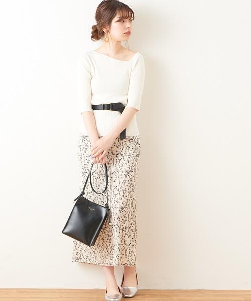 [natural couture] ワンショル風ネックプルオーバー