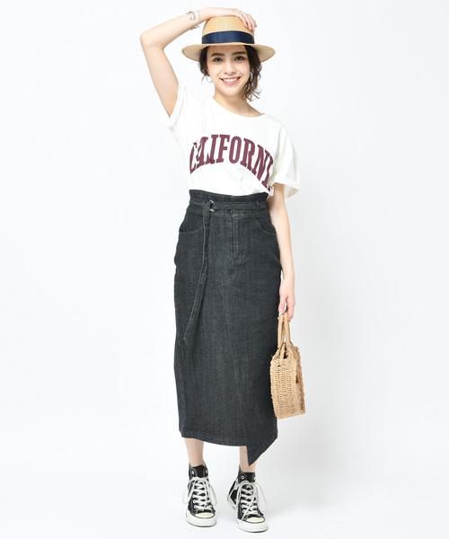 [COLLAGE GALLARDAGALANTE] 【WEB限定】 デニムタイトスカート【S COLLAGE】