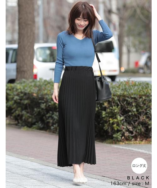 [Re:EDIT] ロング丈セミオーダーカラープリーツスカート