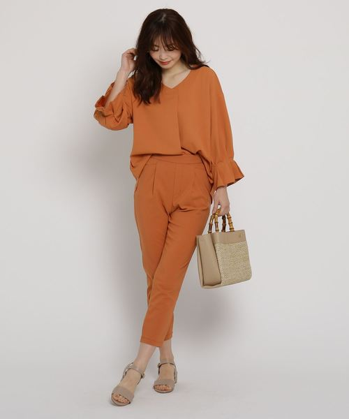オレンジ系 パンツ3