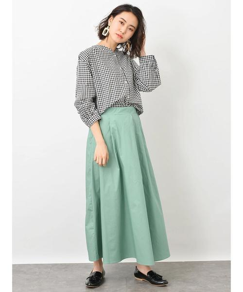 [koe] タックギャザーロングスカート