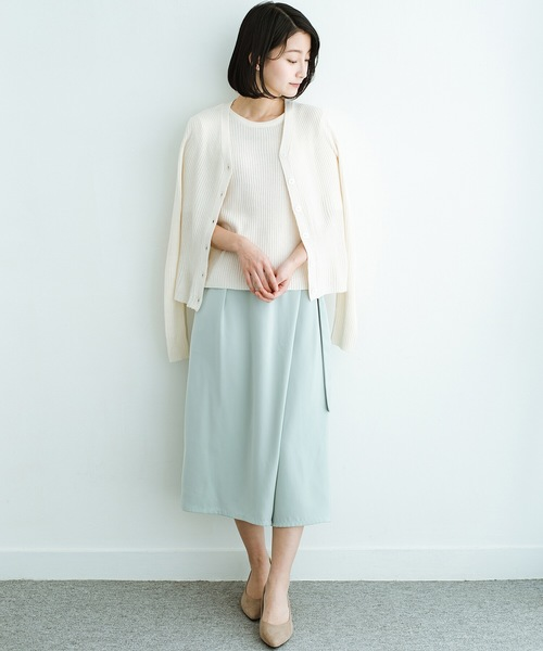 [haco!] スカート見えしつつ ちゃんと動きやすいバックル付きフレアーパンツ