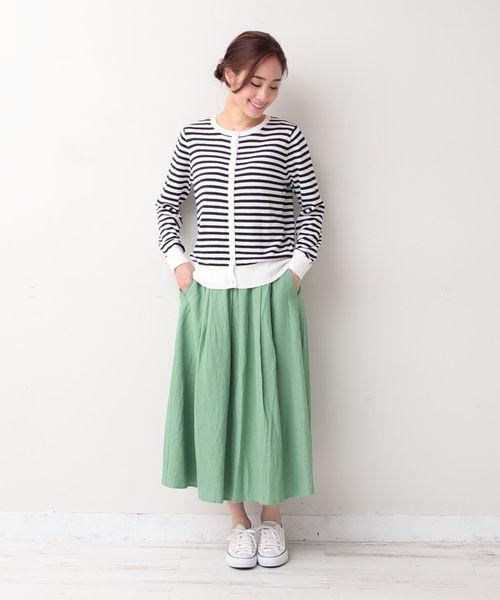 [Afternoon Tea LIVING] 麻レーヨンスカート