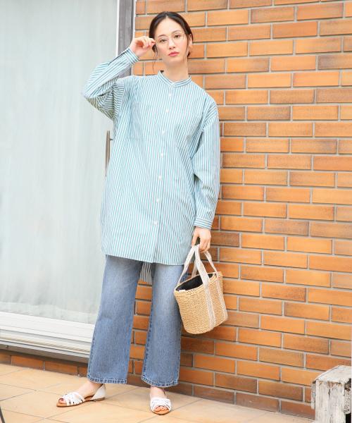 [GLOBAL WORK] BIGロングスタンドシャツ長袖/821297