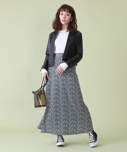 FREAK'S STORE 【WEB限定】小花柄プリントマキシスカート