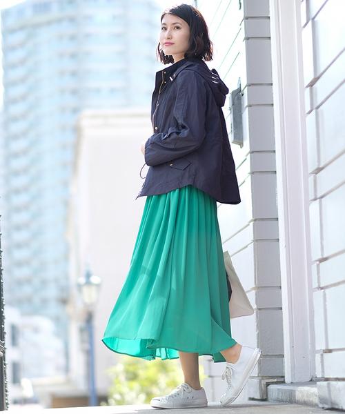 [ASTORIA ODIER] ジョーゼットプリーツスカート