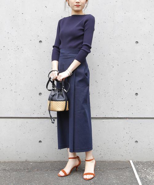 [Liesse] 後ろゴム巻き風スカート