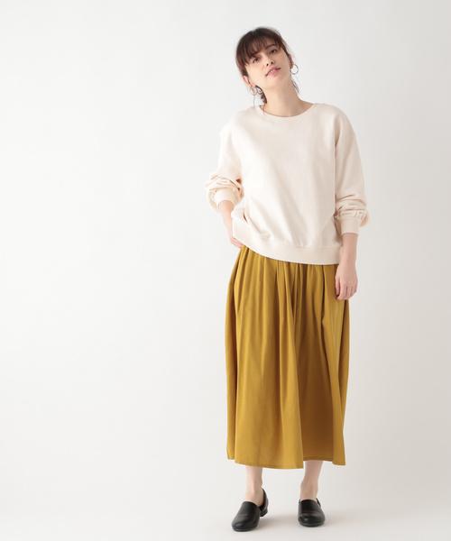 [studio CLIP] コットンレーヨンタックギャザースカート[WEB限定プチサイズ]