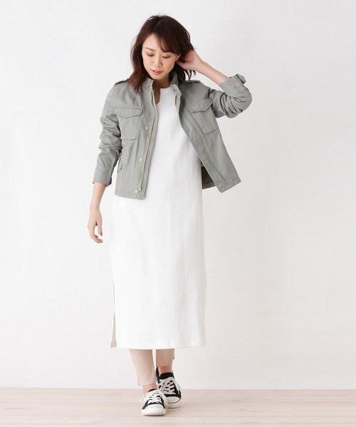 [OPAQUE.CLIP] 【洗える】ターキッシュコットンM-65ジャケット