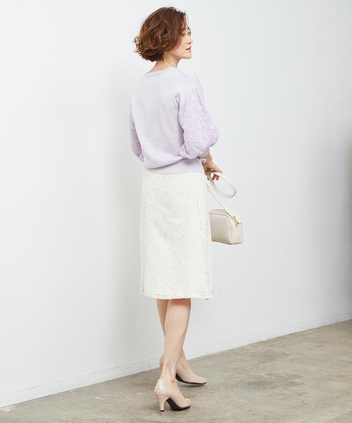 [ROPE' PICNIC] コードレースフレアスカート