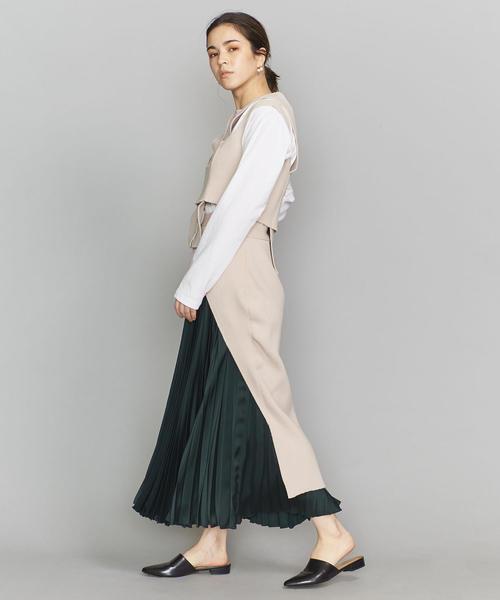 <TAN>ロングテールニットスカート