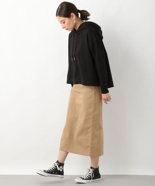 [LEPSIM] コットンポリウレタンミディナロースカート 822730