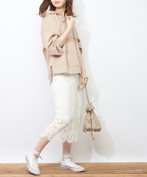 [natural couture] スカラップレーススカート