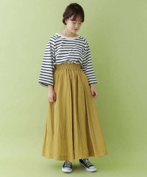 [ITEMS URBANRESEARCH] ワッシャープリーツシャーリングスカート