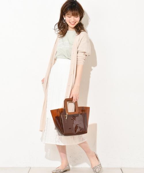 [natural couture] フリルストライプレーススカート