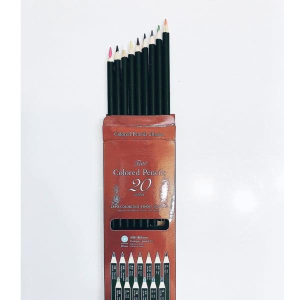 ダイソー 20色カラー色鉛筆 モノトーン