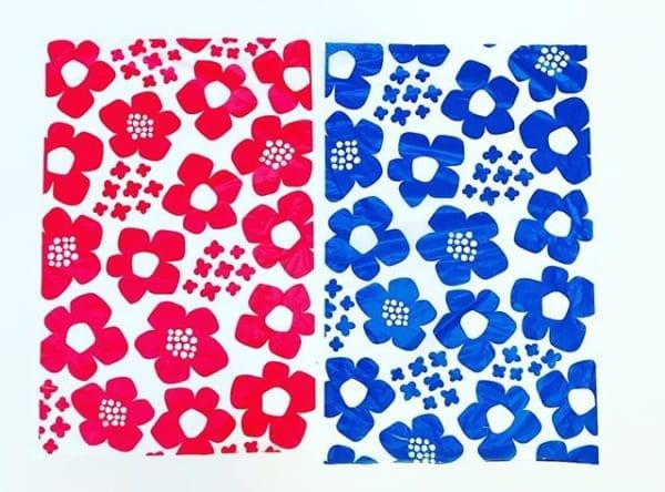 花柄のキッチンポリ袋(セリア)