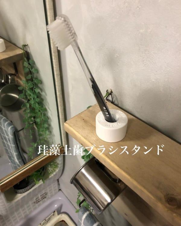 キャンドゥ 珪藻土 歯ブラシスタンド