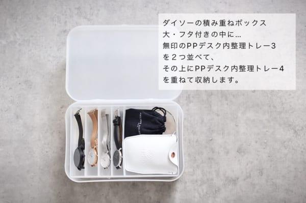 積み重ねBOX&PPデスク内整理トレー3