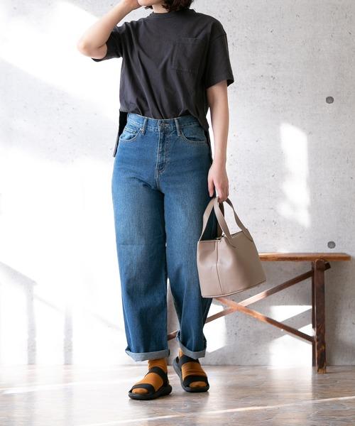 サンダル靴下、黒×カラー
