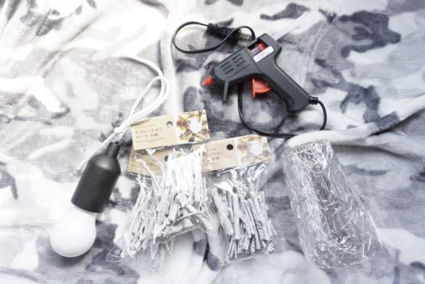 セリア ライトカバーDIY 材料と道具