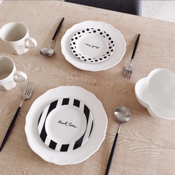 ストライプ柄&ドット柄のテーブルウェア2