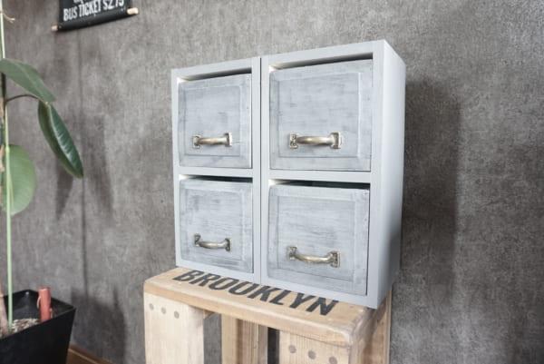 ダイソー 木箱DIY スクエアチェスト