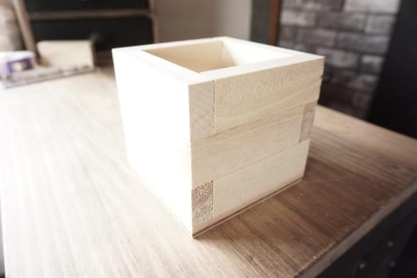 ダイソー 木箱 DIY6