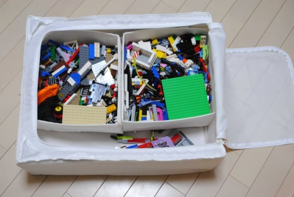 IKEAのSKUBB おもちゃ収納 レゴ