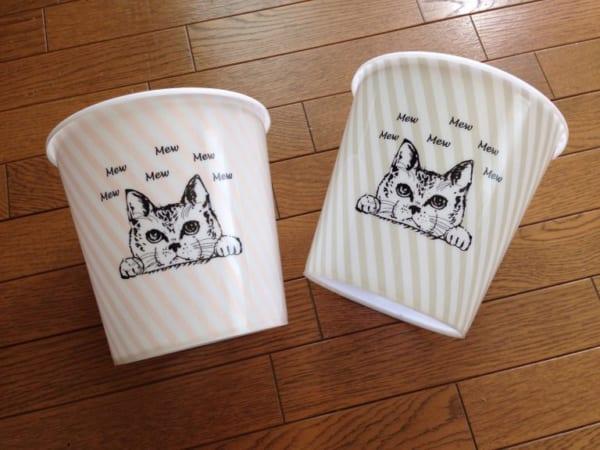 猫柄のゴミ箱