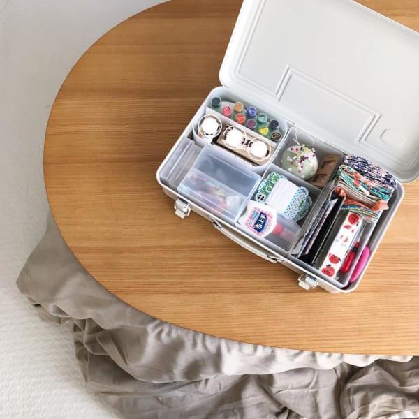 裁縫道具収納 無印良品のスチール工具箱3