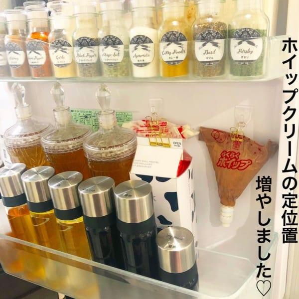 冷蔵庫の扉収納に使うとすっきり!
