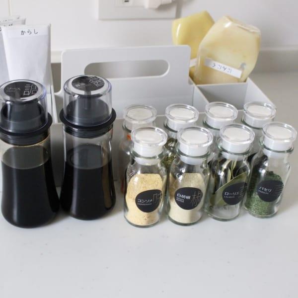 キッチン収納 調味料ボトル
