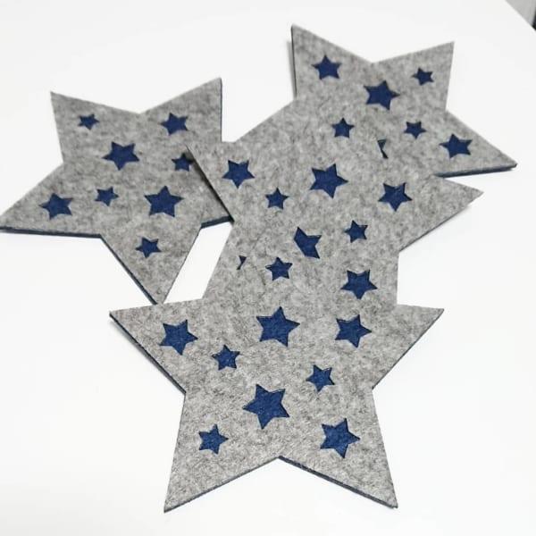 ダイソー 星柄フェルトコースター