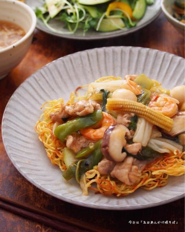 夕食 献立 中華5