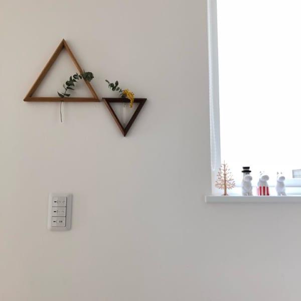 壁かけサンカク