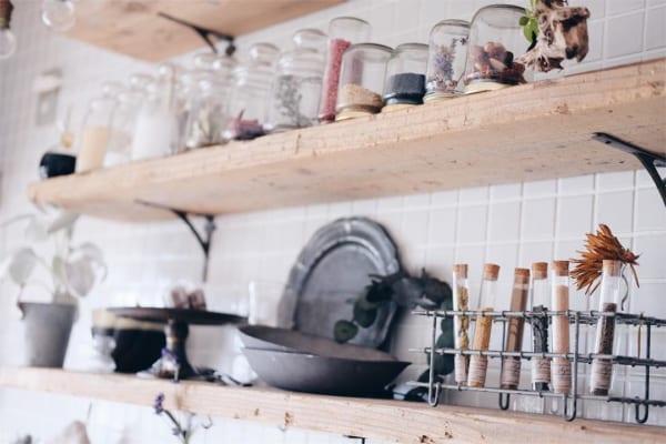 古道具好きさんの素敵なキッチン:団地リノベーション2