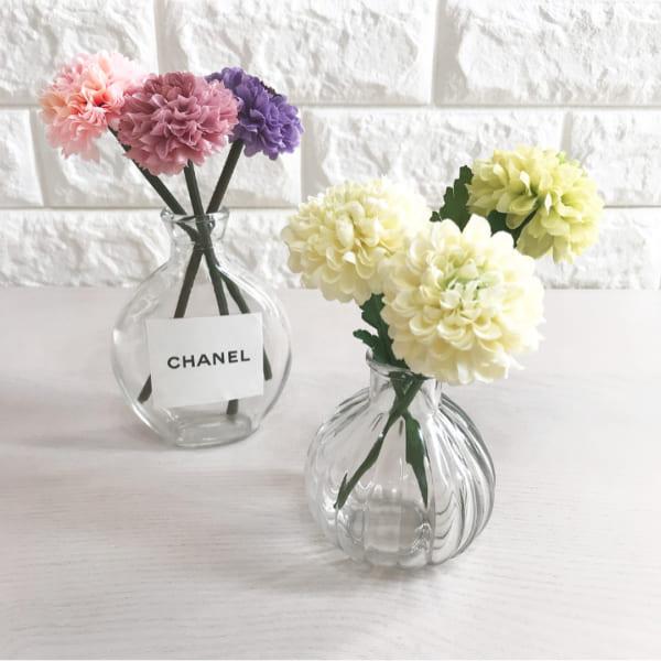 キャンドゥ ガラス花瓶