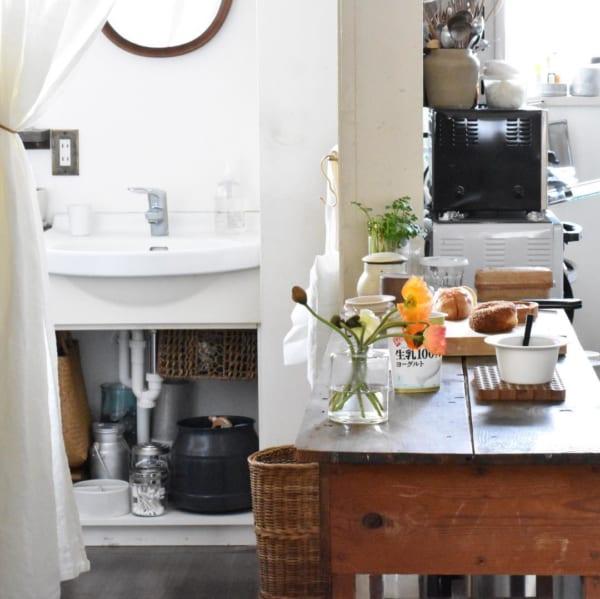 古道具のある素敵なキッチンとアンティークインテリア4