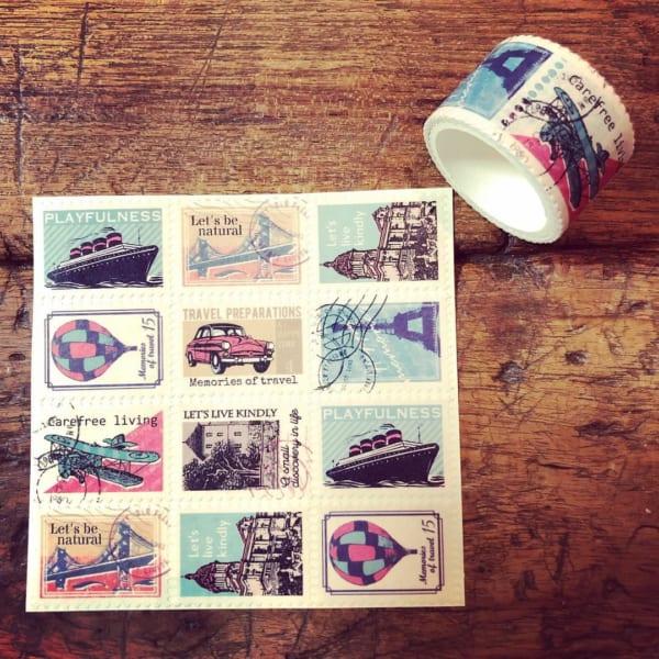 キャンドゥ 切手型マスキングテープ