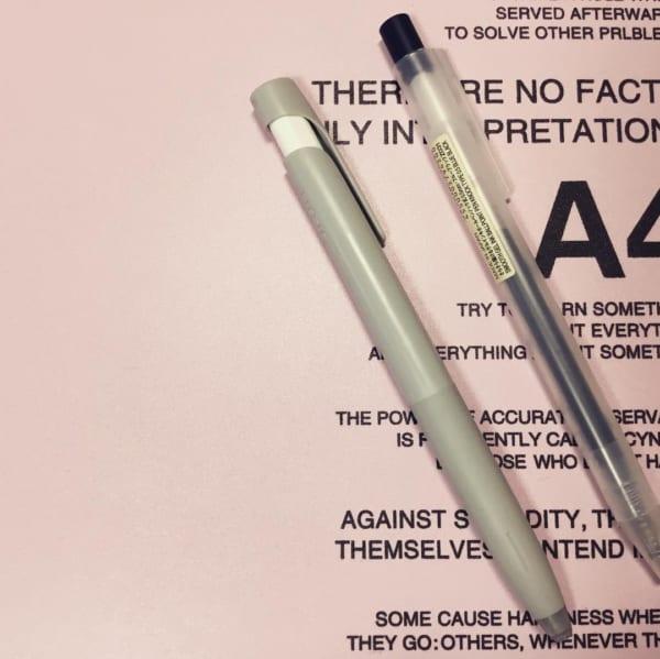 無印良品とZEBRAのボールペン
